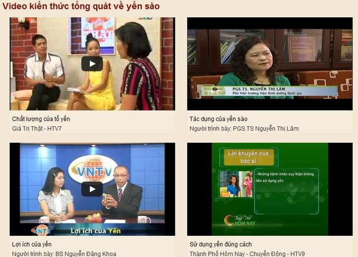 Video clip phỏng vấn nói chuyện về yến sào