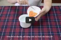 Cách làm yến huyết chưng đường phèn